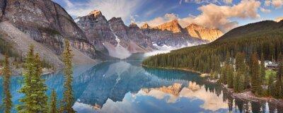 Наклейка Морейн на рассвете, Национальный парк Банф, Канада