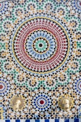 Наклейка Марокканский стиль водопроводной воды с подробными мозаикой