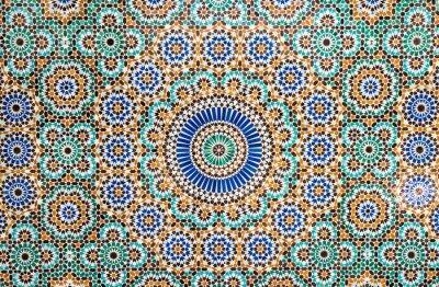 Наклейка Марокканская старинные фон плитки