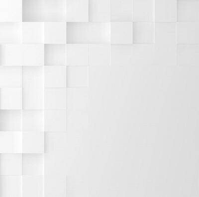 Наклейка Мозаичный квадратный фон. Абстрактная геометрическая конструкция минималистического покрытия. Векторная графика.