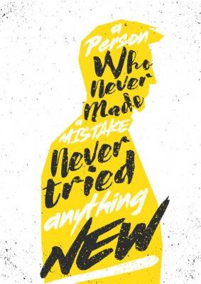 Наклейка Мотивационный постер. Вектор typograhic концепция для печати, обложки, открытки или украшения.