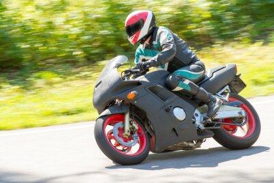 Наклейка Мотоцикл гоночный