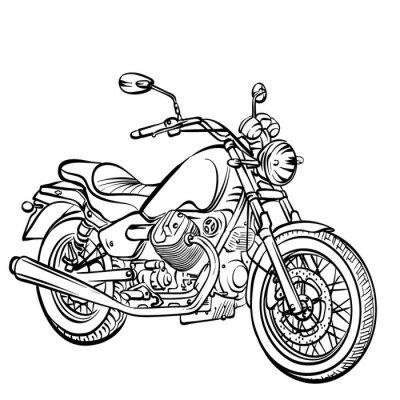 Наклейка Motorcycle classic