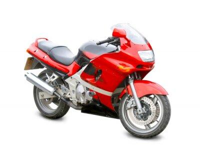 Наклейка мотоцикл изоляции