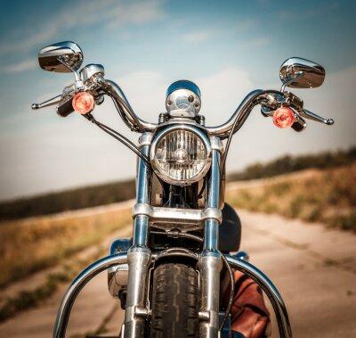 Наклейка Мотоцикл на дороге