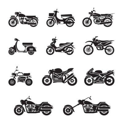 Наклейка Мотоциклисты, Байкеры, Черный и белый силуэт
