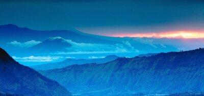 Наклейка панорама гор на вид сверху, Голубые горы