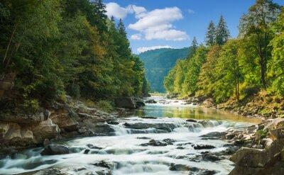 Наклейка горная река