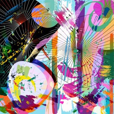 Наклейка разноцветные абстрактные композиции, векторный формат