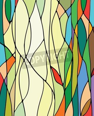 Наклейка Разноцветные витражи