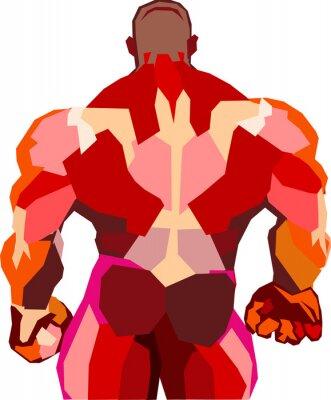 Наклейка Muscular bodybuilder in a gym