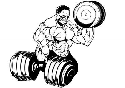 Наклейка мышечная культурист тренировки