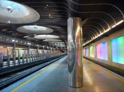 Наклейка Новый железнодорожный вокзал - Окленд архитектура