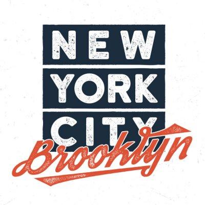 Наклейка Нью-Йорк Бруклин - Tee Design для печати