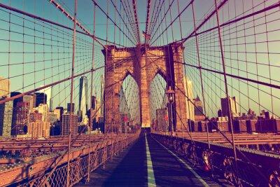 Наклейка Нью-Йорк от Бруклинского моста