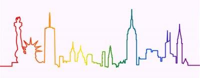 Наклейка New York City Gay-Friendly Skyline Profile