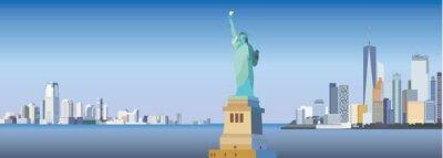 Наклейка Силуэт в Нью-Йорке