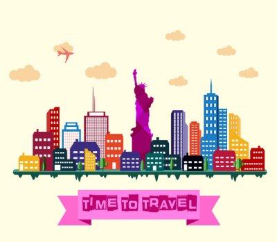 Наклейка Город Нью-Йорк