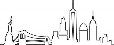 Наклейка Горизонт Нью-Йорка