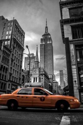 Наклейка New York City street in the Evening