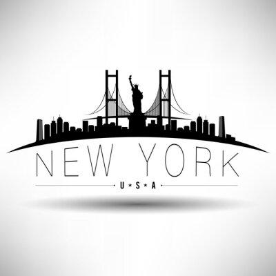 Наклейка Нью-Йорк Типография Дизайн
