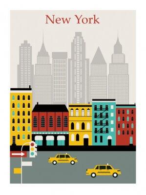 Наклейка New York city. Vector