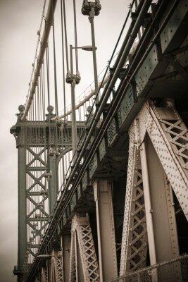 Наклейка Нью-Йорк Манхэттенский мост