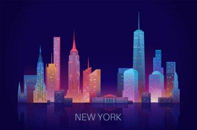 Наклейка New York skyline