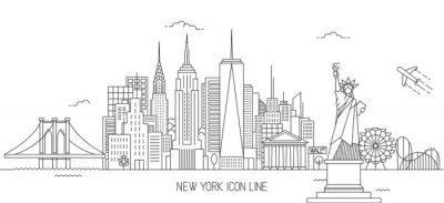 Наклейка Стиль Нью-Йорка
