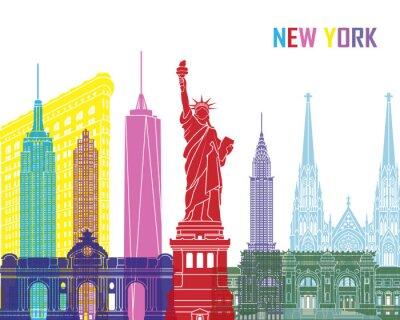 Наклейка Нью-Йорка поп