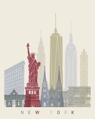 Наклейка Горизонт Нью-Йорка постер