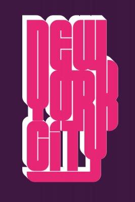 Наклейка Нью-Йорк Спортивная одежда эмблема типографии, футболка с печатью футболки