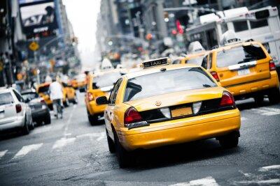 Наклейка Нью-Йорк такси