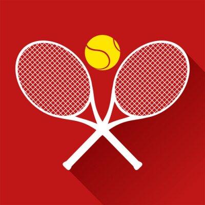 Наклейка красивый значок теннис