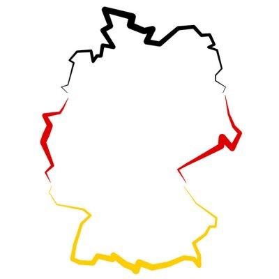 Наклейка Niemcy - на карте