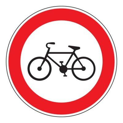Наклейка нет велосипеда разрешено знак