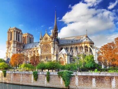 Наклейка Нотр-Дам де Пари Cathedral.Paris. Франция.