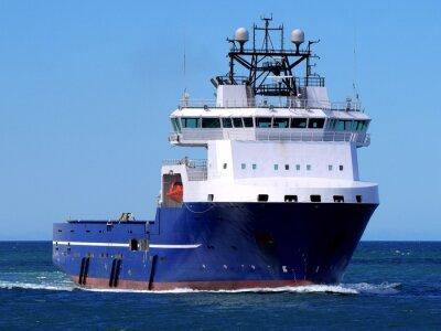 Наклейка Offshore судно снабжения F, Оффшорные Судно снабжения ведется в открытом море на морском объекте.