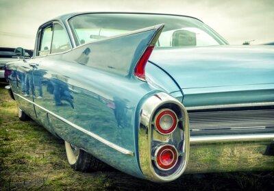 Наклейка Старый американский автомобиль в стиле винтаж