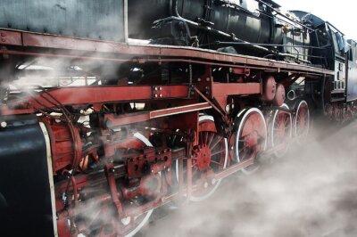 Наклейка Old locomotive wheels