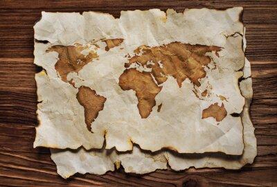 Наклейка Старая карта