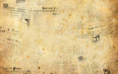 Наклейка Фон Старые газеты