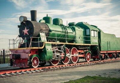 Наклейка старые паровозы 20-го века