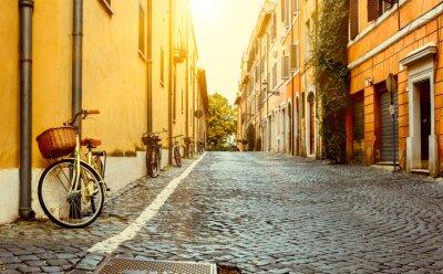 Наклейка Старая улица в Риме, Италия