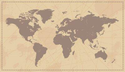 Наклейка Старый урожай Карта Мира