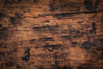 Наклейка Старая деревянная предпосылка текстуры планки. Естественная выдержанная текстура деревянных доск.