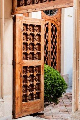 Наклейка Старая деревянная дверь