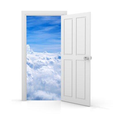 Наклейка открытая дверь