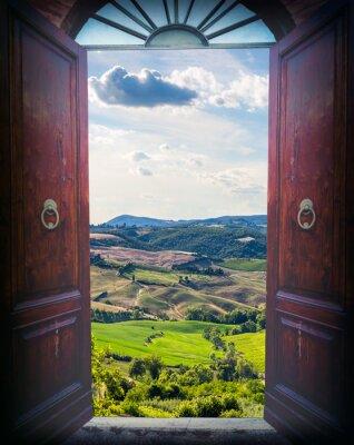 Наклейка День открытых дверей и ландшафт