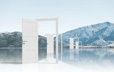Наклейка Открытые двери в поле